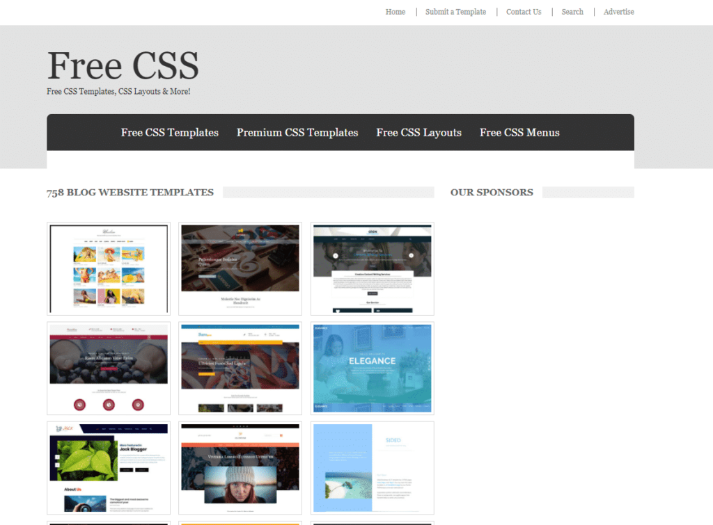 This website offers free CSS templates that can be used for blogs.