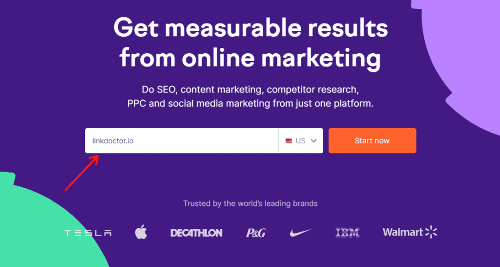 SEMRush is an all-in-one tool that's trusted by the world's megabrands.