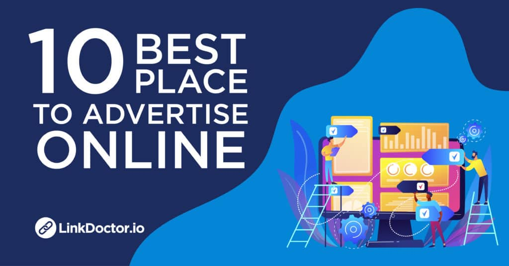 Poster of 10 best place to advertise online