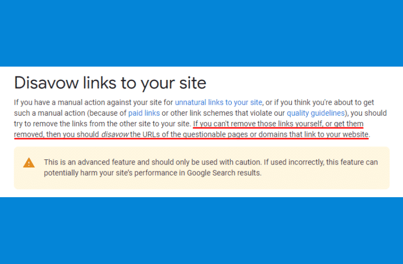 Google's guidelines when disavowing links.