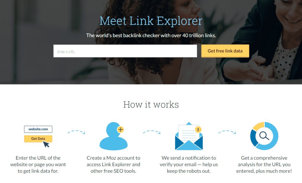 Enter your competitor's domain in the Link Explorer Tool.