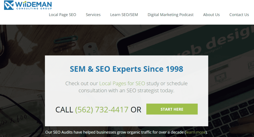 Wiideman Consulting Group has been a trusted SEO partner for websites since the 90s.